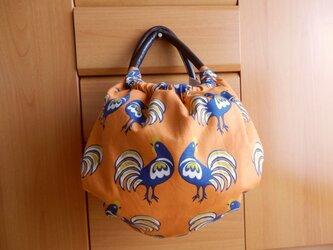 ニワトリのかぼちゃバッグ 大きいサイズ ダル・オレンジの画像