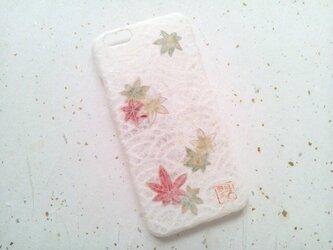 《受注製作》Wacon友禅和紙iPhone6/6sカバー[海波×紅葉]の画像