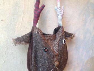 鹿顔ショルダーバッグの画像