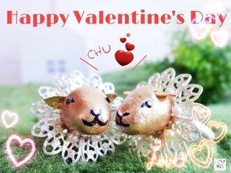 仲良し子羊さんの立体指輪♡バレンタインデーのお返しにもの画像