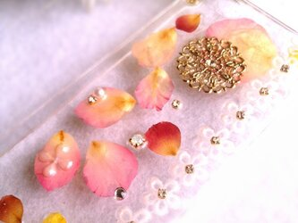 オーダー品本物のバラでIPHONE5ケースの画像