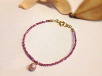 シュガー×ピンクロープ ブレスの画像