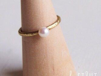 【再販】- Brass - Pearl Ringの画像