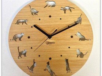 壁掛時計 CAT(オーク)の画像