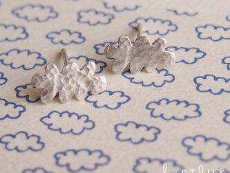 【受注制作】- Silver - Cloud ピアスの画像