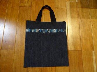藍染古布のトートバックの画像