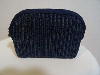 藍染古布のポーチの画像