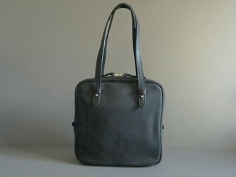 square hand bag (black)の画像