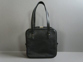 square hand bag (black)の画像