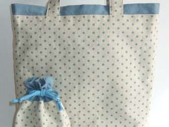 水玉トートバッグ&巾着の画像