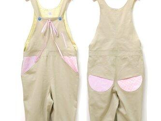 サロペットパンツ♡ライトベージュtypeA(ピンク)の画像