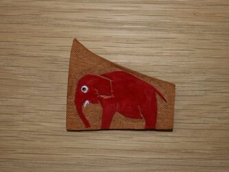 ラクガキバッジ ゾウの画像