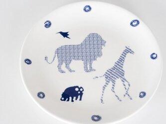 Giraffe Hippo Lion Bird Plateの画像