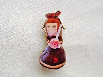びいどろ人形ブローチの画像