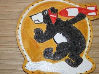 スコードロンパッチ クマの画像
