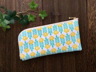 軽くて薄い♪L字長財布 黄色いお花の画像