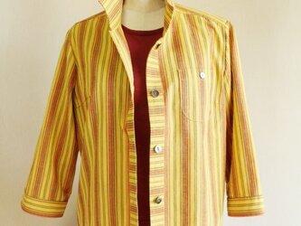 黄八丈風のシャツブラウス_0004の画像