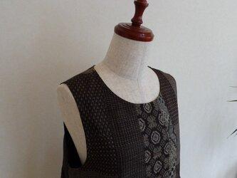 古布 大島紬パッチワークジャンパースカート(総裏付)の画像