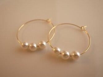 *再販* pearl hoop earringsの画像