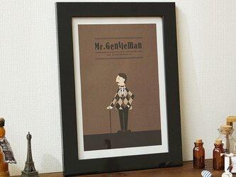 アート ポスター 絵画 「ジェントルマン」イラストの画像