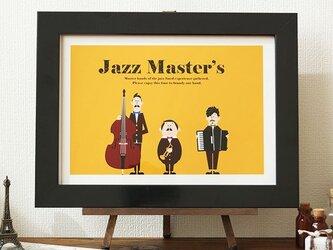 アート ポスター 絵画 「ジャズマスター」イラストの画像