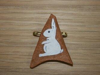ラクガキバッジ ウサギの画像