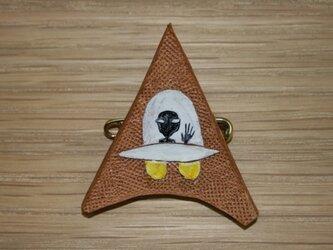 ラクガキバッジ UFOの画像