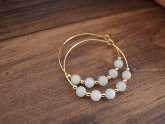*再販* amazonite hoop earringsの画像