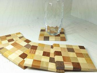寄木コースターの画像
