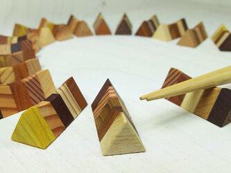 寄木の箸置きの画像