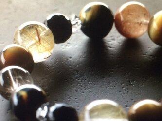 ★オーダーメイドブレス★最強の金運:黄金ルチルのブレスの画像