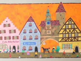 ローテンブルグの町並みの画像