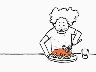 ミートソーススパゲティ 【 Tシャツ 】の画像