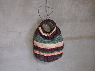 裂き織り/silkノ ころりんボーダーバッグ (+orimi)の画像
