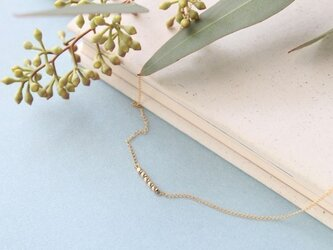 petit gold necklaceの画像