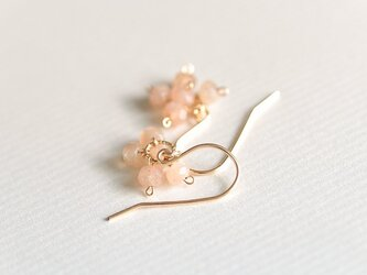 orange moonstone earringsの画像