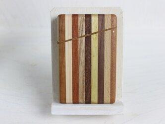 寄木の名刺入れ ストライプの画像