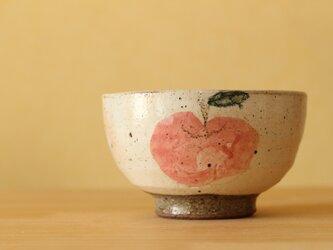 粉引きりんごのお茶碗。の画像