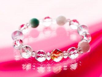 ★虹色のハーモニー★七色のストーンの光の環のブレスの画像