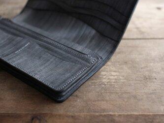 墨藍染革 長財布の画像