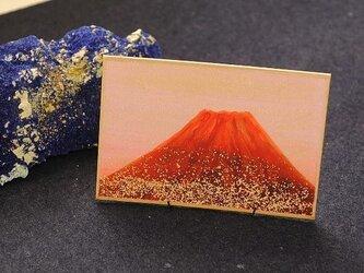 日本画カルタ「赤富士」の画像