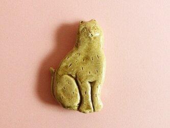 カトラリーレスト ネコ タテ 茶の画像
