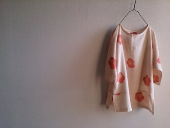 着物リメイク梅の花チュニックの画像