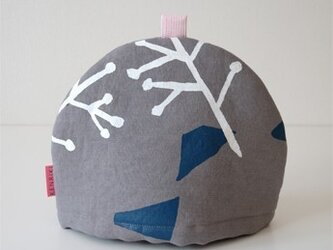 Tea cozy(gray/illustration)の画像