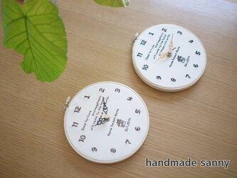 オーダーメイド home sweet home おうち時計の画像