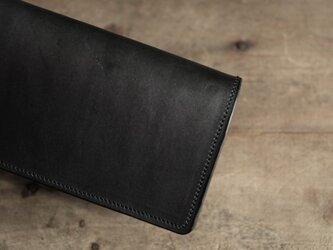 特別オーダー   墨藍染革長財布の画像