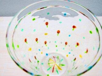 野の花グラス:サーモンピンクの画像