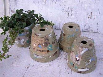リメイク鉢<カーキ4号>の画像