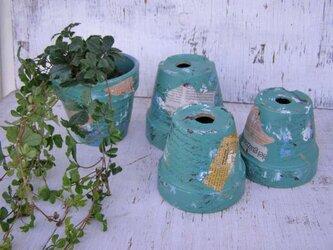 リメイク鉢<グリーン4号>の画像