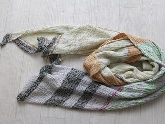 only one shawl cotton100 -a03-の画像
